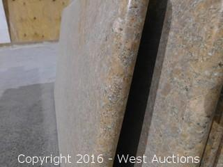 "(1) 42""x22"" Pre-Fabricated New Giallo Bahia Marble Countertop"