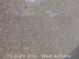 "(1) 48""x22"" Pre-Fabricated New Giallo Bahia Marble Countertop"