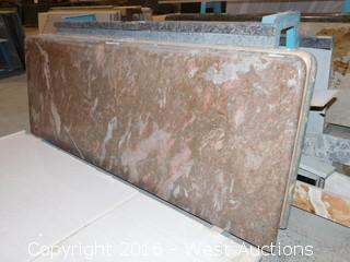 "(1) 62""x26"" Pre Fabricated Granite Countertop"