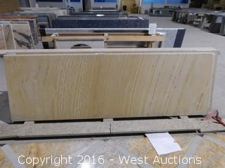 "(1) 80.5""x26"" Pre-Fabricated Marble Countertop"