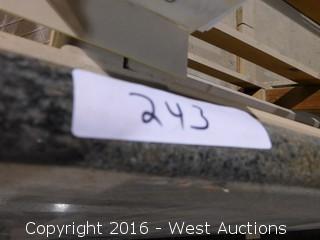 "(1) 43.5""x26"" Pre-Fabricated Granite Countertop"