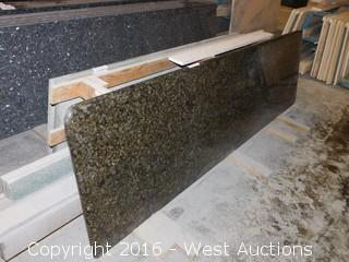 "(1) 90-1/4""x26"" Pre-Fabricated Granite Countertop"