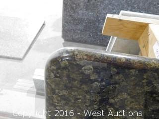 "(1) 90-1/4""x26"" Pre-Fabricated Granite Countertop"