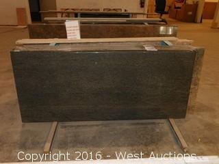 "(1) 60.5""x26"" Pre-Fabricated Granite Countertop"
