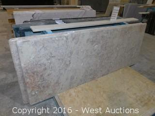 "(1) 68.5""x26"" Pre-Fabricated Granite Countertop"