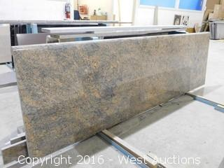 "(1) 88.5""x26"" Pre-Fabricated Granite Countertop"
