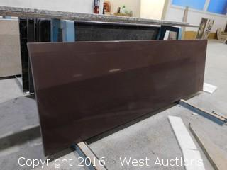 "(1) 71-1/4""x22.5"" Pre-Fabricated Manmade Countertop"