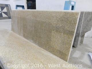 "(3) 72""x22.5"" Pre-Fabricated Granite Countertops"