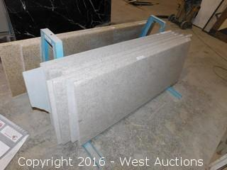 "(13) 62""x22.5"" Pre-fabricated Granite Countertops"