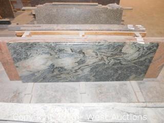 "(1) 75.5""x26"" Pre-Fabricated Granite Counterop"