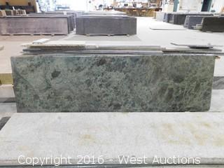 "(1) 87.5""x26"" Pre-Fabricated Empress Green Granite Countertop"