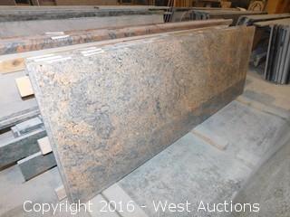 "(1) 63.5""x26"" Pre-Fabricated Granite Countertop"