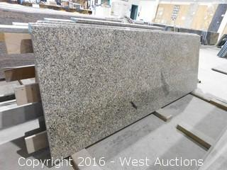 "(1) 72""x26"" Pre-Fabricated Rose Green Granite Countertop"