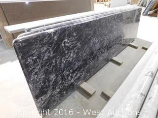 "(1) 99.5""x26"" Pre-Fabricated Granite Countertop"
