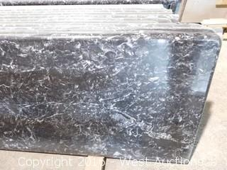 "(1) 101.5""x26"" Pre-Fabricated Nero Margua Granite Countertop"