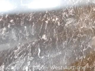 "(1) 100""x26"" Pre-Fabricated Nero Margua Granite Countertop"