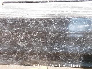 """(1) 91""""x26"""" Pre-Fabricated Nero Margua Granite Countertop"""
