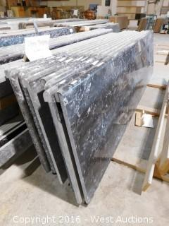 "(1) 78.5""x26"" Pre-Fabricated Nero Margua Granite Countertop"
