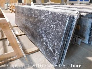 "(1) 95.5""x26"" Pre-Fabricated Nero Margua Granite Countertop"