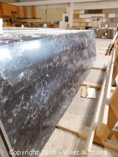 "(1) 99""x26"" Pre-Fabricated Nero Margua Granite Countertop"