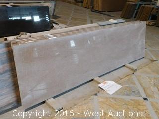 "(1) 98.5""x26"" Pre-Fabricated Traditional Red Countertop"