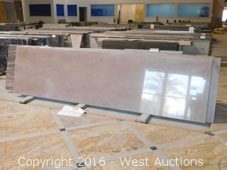 "(1) 110""x26"" Pre-Fabricated Traditional Red Countertop"