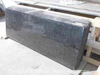 "(1) 61.5""x23"" Pre-Fabricated Ubatuba Granite Countertop"