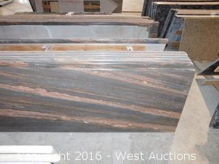"(1) 110.5""x26"" Pre-Fabricated Granite Countertop"