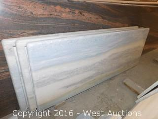 "(1) 51-1/4""x18.5"" Pre-Fabricated Granite Countertop"