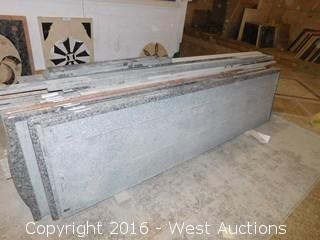 "(1) 97.5""x26"" Pre-Fabricated Granite Counterop"