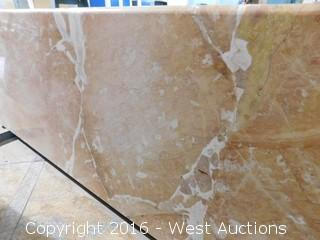 "(1) 77.5""x23"" Pre-Fabricated Granite Countertop"