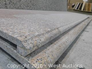 "(1) 98""x26"" Pre-Fabricated Granite Countertop"