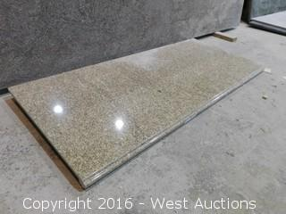 "(1) 61""x26"" Pre-Fabricated Granite Countertop"