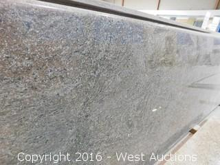 "(1) 108""x26"" Pre-Fabricated Dragon Red Granite Countertop"