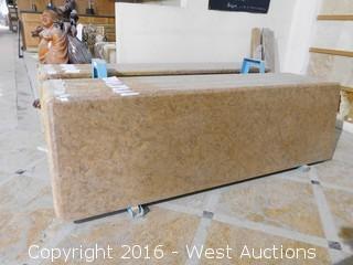 "(1) 77""x23"" Pre-Fabricated Granite Countertop"