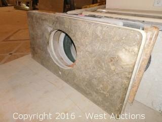 "(1) 50""x23"" Granite Vanity Sink Countertop"