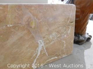 "(1) 77""x23"" Pre-Fabricated Granite Countertop"