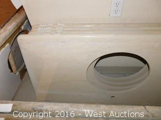 "(1) 51""x23"" Granite Vanity Sink Countertop"