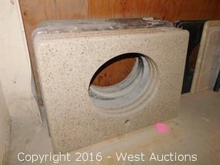 "(1) 33""x23"" Granite Vanity Sink Countertop"