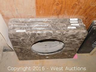 "(1) 33""x23"" Granite Vanity Sink Countertop"