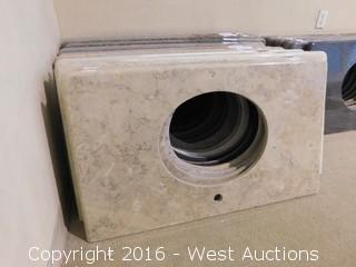 "(1) 39""x23"" Granite Vanity Sink Countertop"