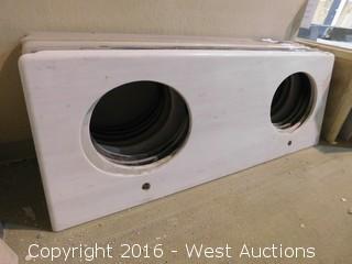 """(1) 62""""x23"""" Granite Vanity Dual Sink Countertop"""