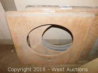 "(1) 26.5""x22"" Granite Vanity Sink Countertop"
