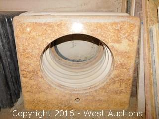 "(1) 26.5""x22.5"" Granite Vanity Sink Countertop"