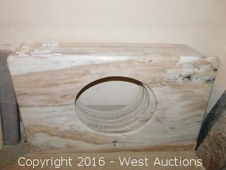 "(1) 38""x23"" Granite Vanity Sink Countertop"