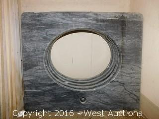 "(1) 27""x22"" Granite Vanity Sink Countertop"