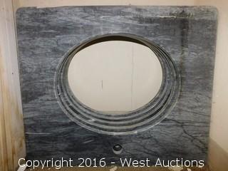 "(1) 27""x22"" Granite Vanity Sink Countertop"