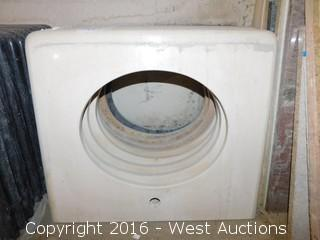 "(1) 26.5""x22.5"" Granite Vanity Sink Countertop"