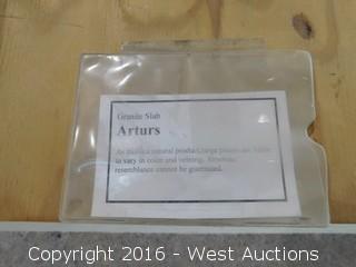 "(1) 70"" x 52"" Arturs Granite Slab"
