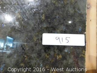 """(1) 8' x 26"""" Verde Labradorite Granite Slab"""